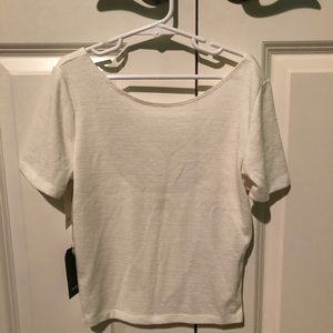 Tops - Wilfred Free Crop Top Crew Neck with Low Back